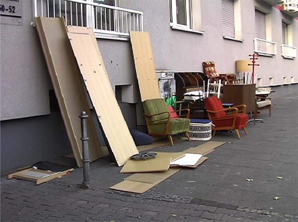 """""""Battonnstrasse 50-52"""", Videoinstallation, 2011"""